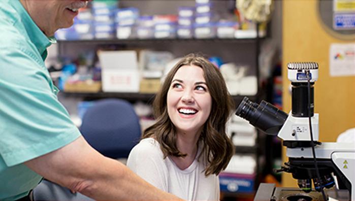 Action Photo - Microscope lab