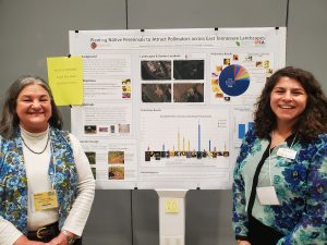 Amani Khalil presenting her research alongside Teresa Maurer, the poster coordinator for SSAWG