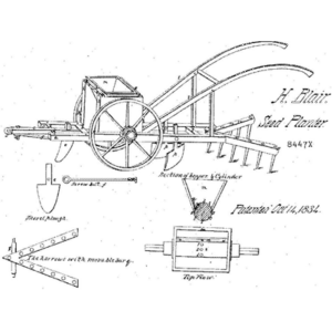 Henry Blair's patent of a seed planter